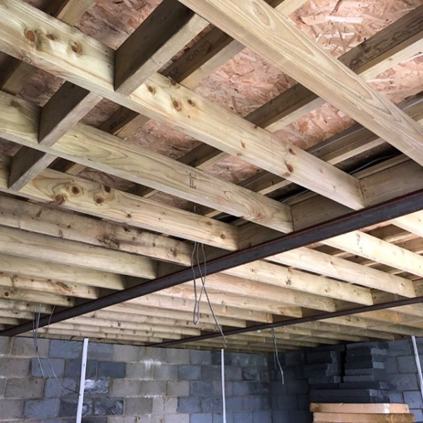 wooden loft beams